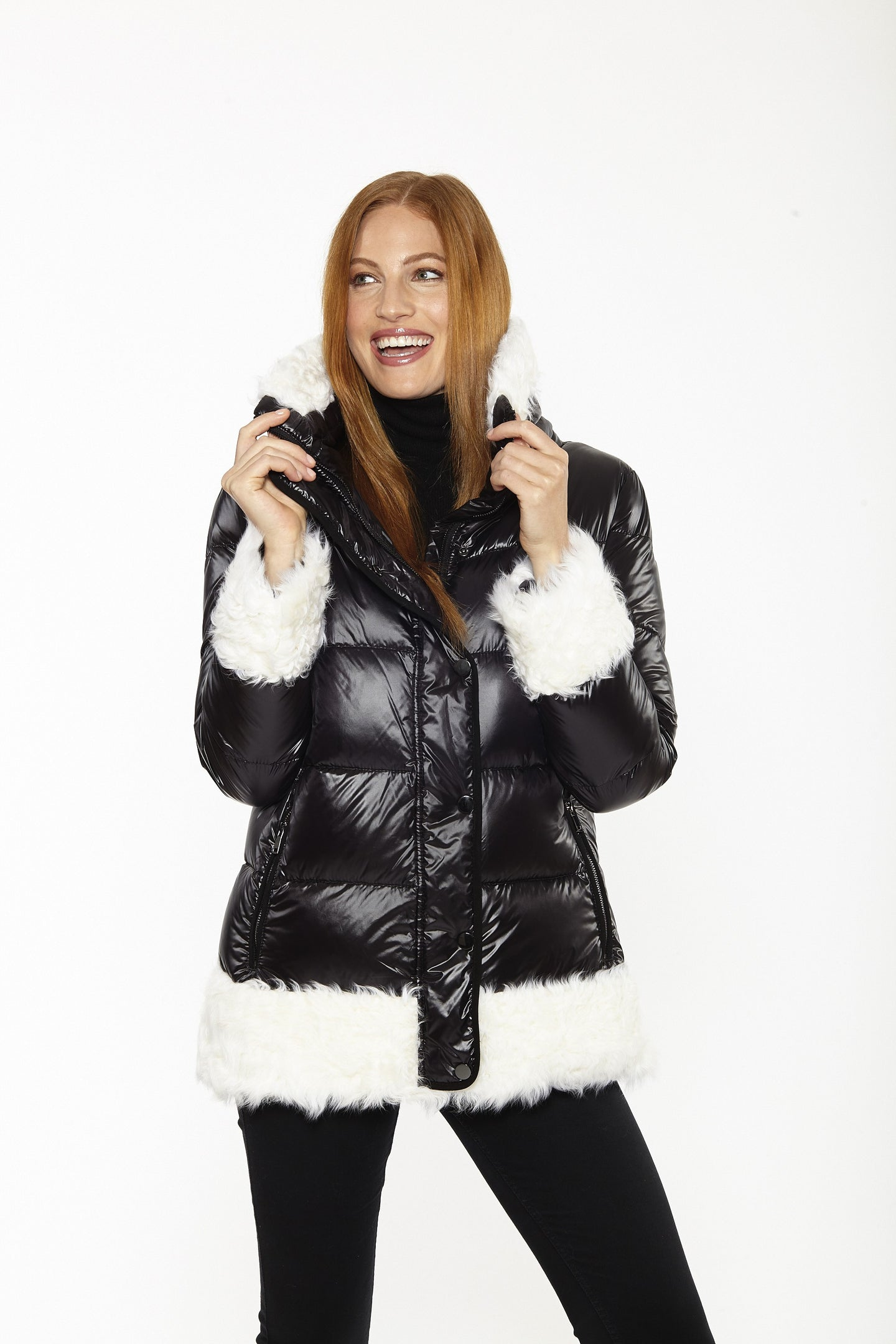 Lamb & Down Fur Zip Jacket