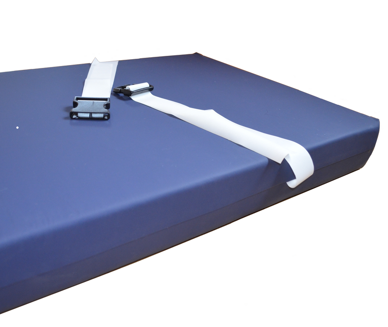Strap detail on veterinary operating table mattress - Big Dog Bed Company