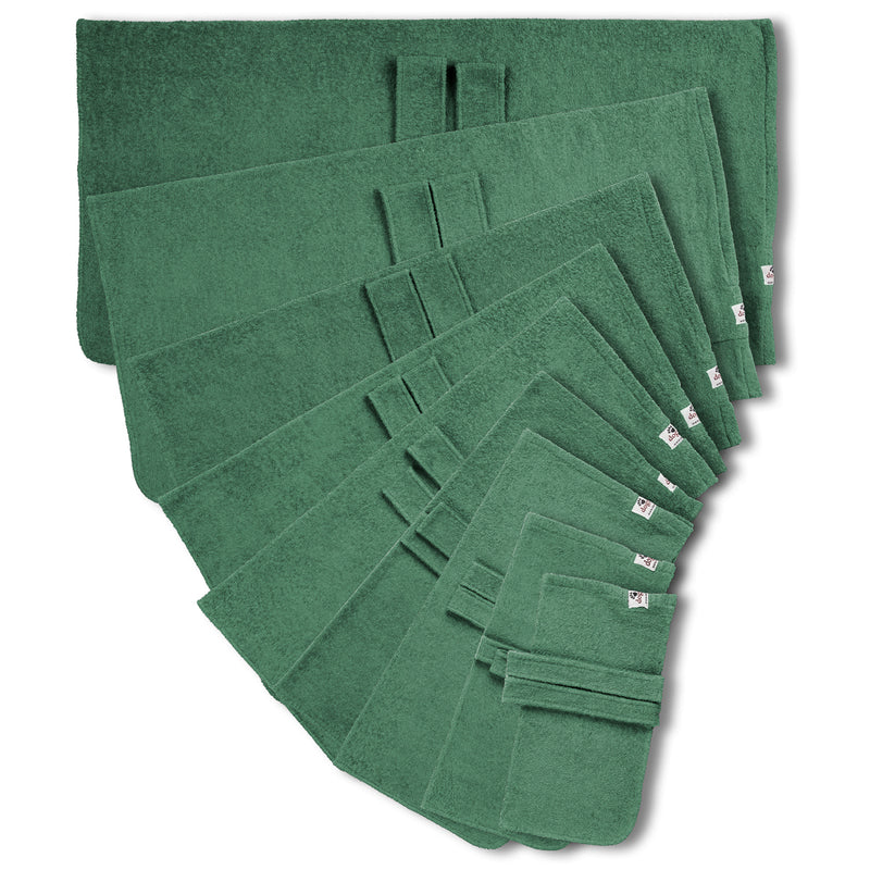 Dog drying coats in nine sizes - green