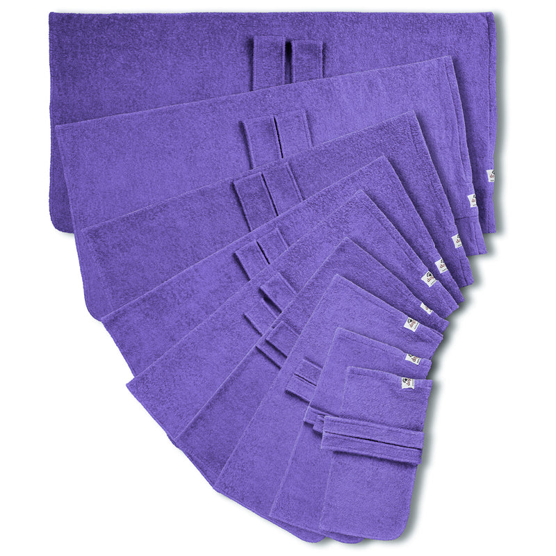 Dog drying coat from Dogrobes in nine sizes - purple