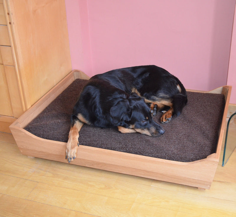 Oak Dog Bed Frames - Big Dog Bed Company