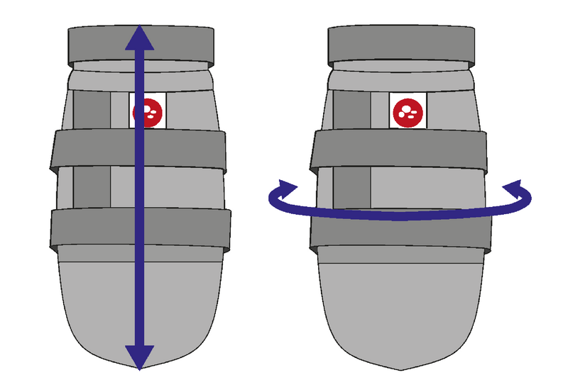 Dog paw protection shoe  diagram for fitting measurement