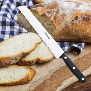 "Curel 9-1/2"" Serrated Bread Knife - POM Handle"