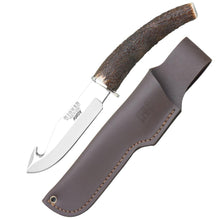 "Load image into Gallery viewer, Huron 4-1/4"" Gut Hook Knife - Stag Horn Handle"