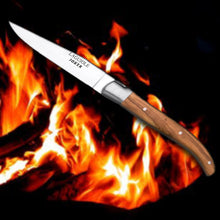 "Load image into Gallery viewer, Laguiole 4"" Steak Knife - Olive Wood Handle"