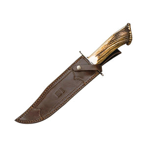 Leon 9-7/8″ Hunting Knife - Stag Horn Handle
