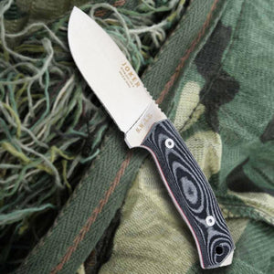 "Joker 4-1/8"" Tactical Drop Point Knife - Micarta Handle"