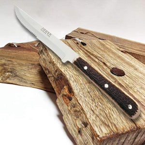 "Joker Luxury 8-3/4"" Country Steak Knife - Stag Horn Handle"