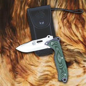 "Forester SV-3 3-3/8"" Hunting Folding Knife  - Micarta Handle"