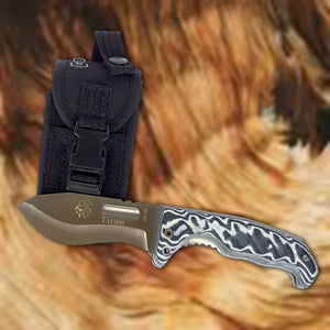 "Titan 4"" Hunting Folding Knife - Micarta Handle"