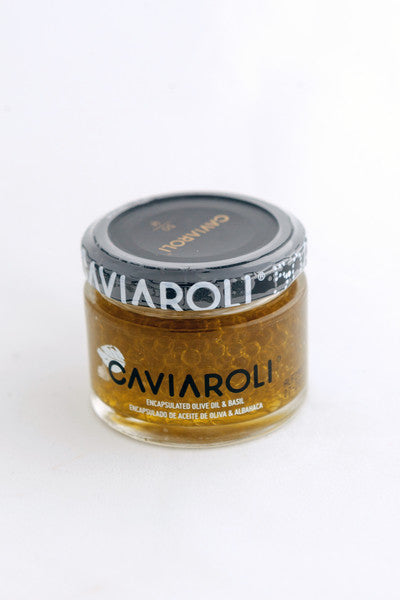 Caviaroli encapsulated olive oil / Aceite de oliva encapsulado