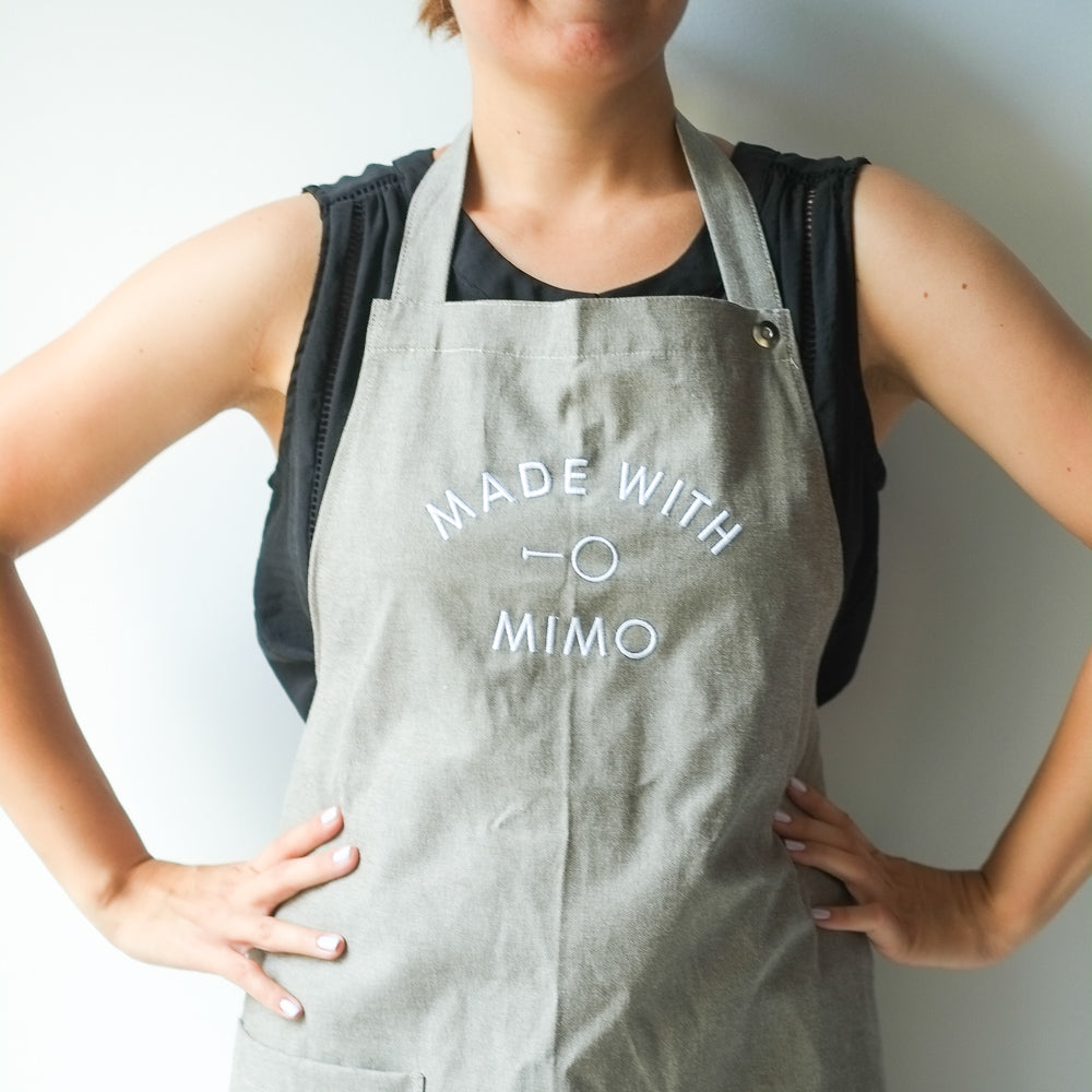 "Mimo London ""Made with Mimo"" apron"
