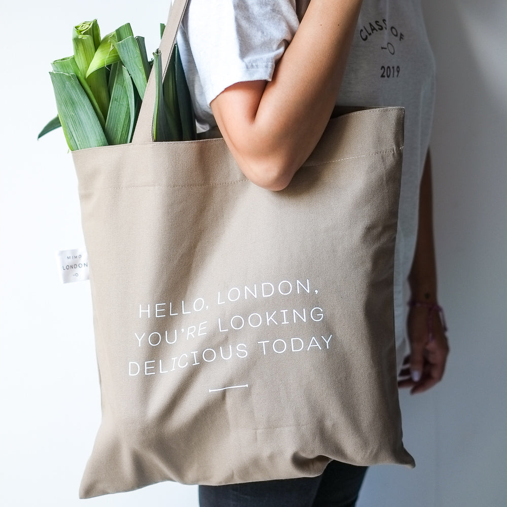 "Mimo London ""Hello, London"" canvas bag"