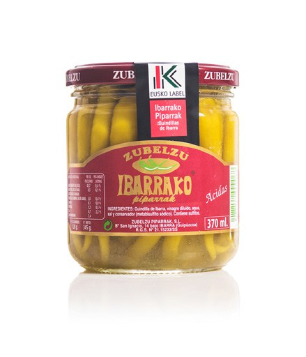 Mild Green Pickled Basque Peppers / Ibarrako Piparrak