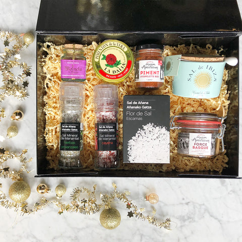 Spanish salts & spices gift box/ Caja regalo sales&especias