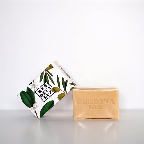 Bendita Luz orange blossom and olive leaf soap - Jabón de azahar Bendita Luz
