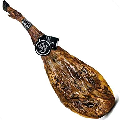 Pack of an entire hand-carved Cinco Jotas ham / Estuche todo un Cinco Jotas Jamon Cortado a Mano