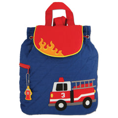 Quilted Backpack Fire Truck