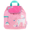 Image of Quilted Backpack Pink Unicorn