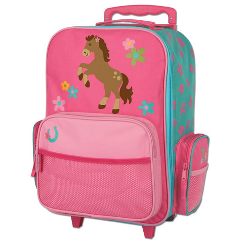 Rolling Luggage Girl Horse