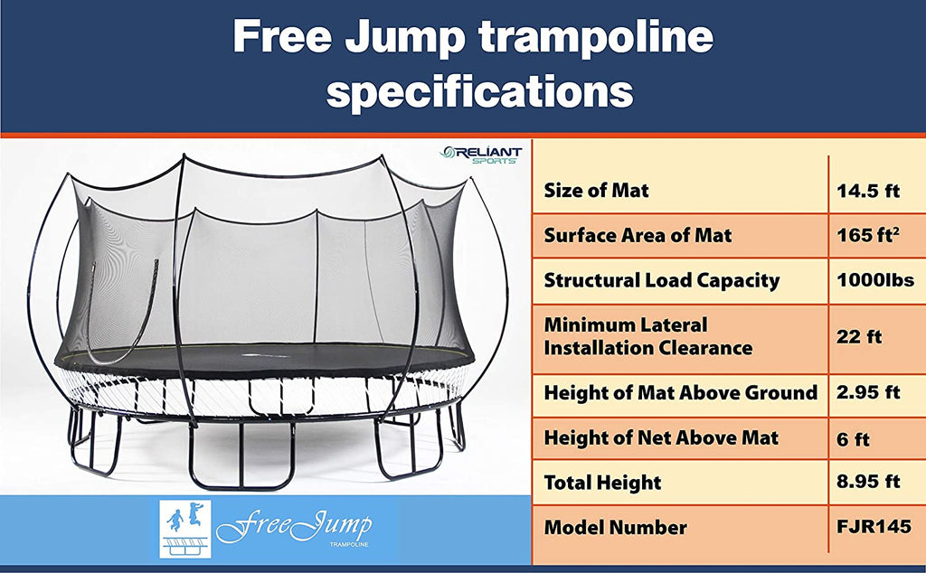 outdoor springless trampoline jump free
