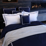 Duvet Cover Set Daphness Collection, Navy - Crown Goose