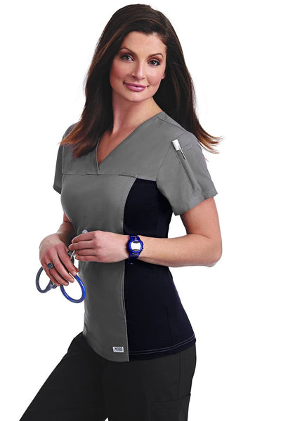 """MOBB"" WOMENS FLEXI V NECK SCRUB TOP"