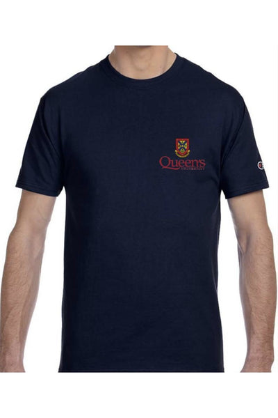 Heritage Champion Tee with Queens Crest and Logo