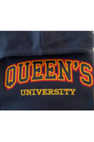 APPLIQUED AND EMROIDERED QUEENS COLLEGIATE HEAVY HOODIE