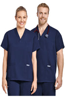 """MOBB"" V NECK UNISEX 3 POCKET SCRUB TOP"