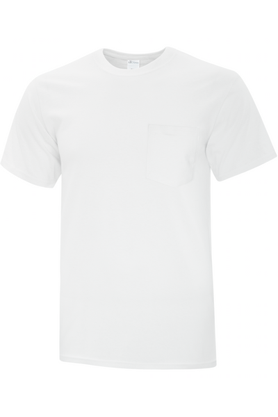 WHITE BASIC POCKET TEE