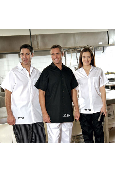 SNAP COOK SHIRT WHITE OR BLACK