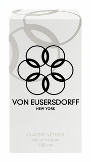 Von Eusersdorff white perfume packaging of 100 ml classic vetiver scent