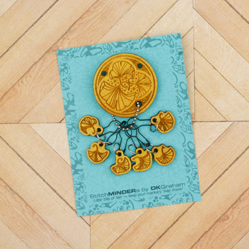 Gingko Leaves StitchMINDERs Pin & Stitch Marker Set