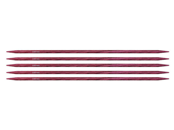 "Dreamz Double Point Needles - 8"", US 6 (4.0mm) Fuchsia Fan"