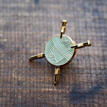 Yarn & Needles Enamel Pin