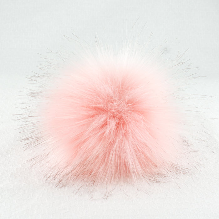 Faux Fur Pom Pom with Snap - Large