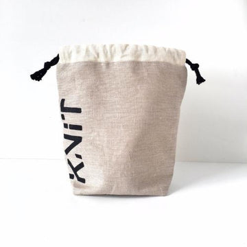 KNIT Drawstring Project Bag - Natural
