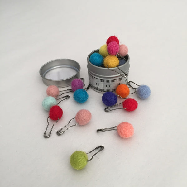 Tin of Colorful Stitch Markers