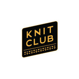 Knit Club Enamel Pin