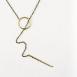 Knitters Lariat Necklace