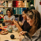 Knitting Circles at Knitting Bee