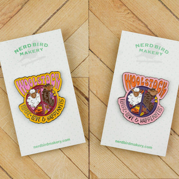 Woolstock: Fleece, Love & Happiknits Enamel Pin