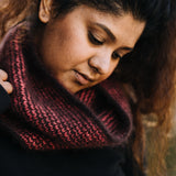 Plush Cowl Kit in Cashmere Light Coral & Mahogany