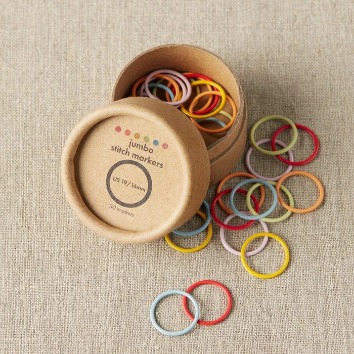 Colored Ring Stitch Markers - Jumbo