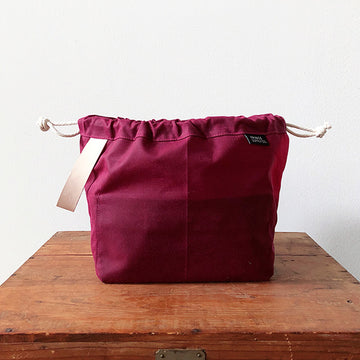 Fringe Field Bag - Waxed Plum
