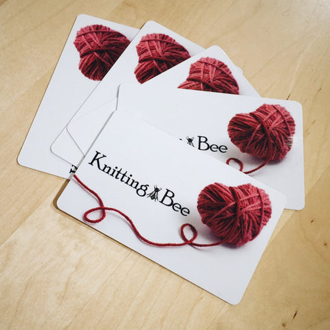 Gift Certificate for use in person at Knitting Bee