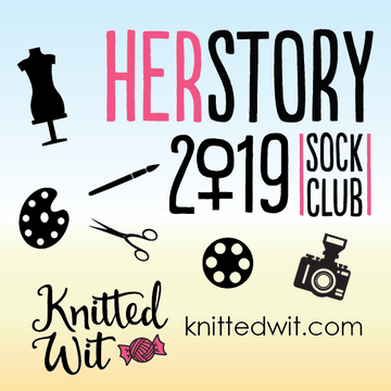 Knitted Wit HERstory Sock