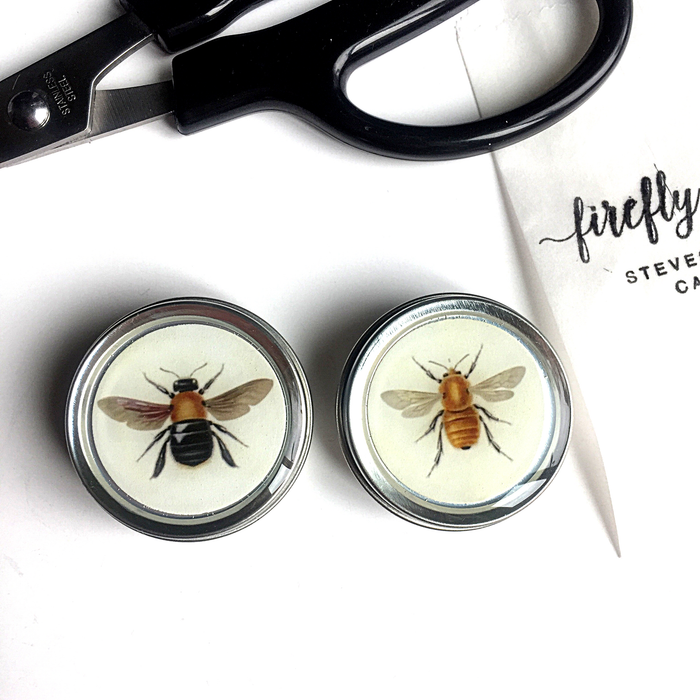 Firefly Notes Set of Round Bee Tins