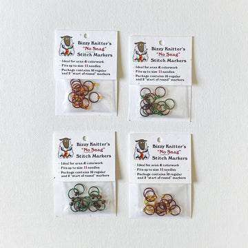 Bizzy Knitter's No Snag Stitch Markers - Large